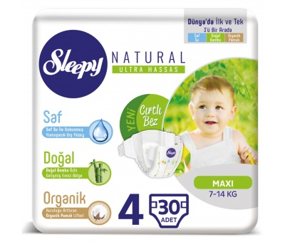 Sleepy Sensitive Maxi Pepee 30 Adet (7-14 Kg)