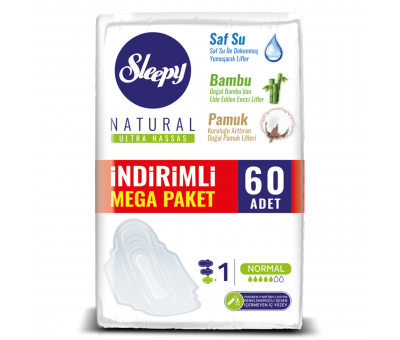 Sleepy Natural Ultra Hassas NORMAL (60 Ped) MEGA PAKET