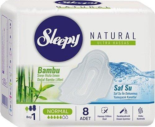 Sleepy Natural Ultra Hassas Normal 8'li Hijyenik Ped